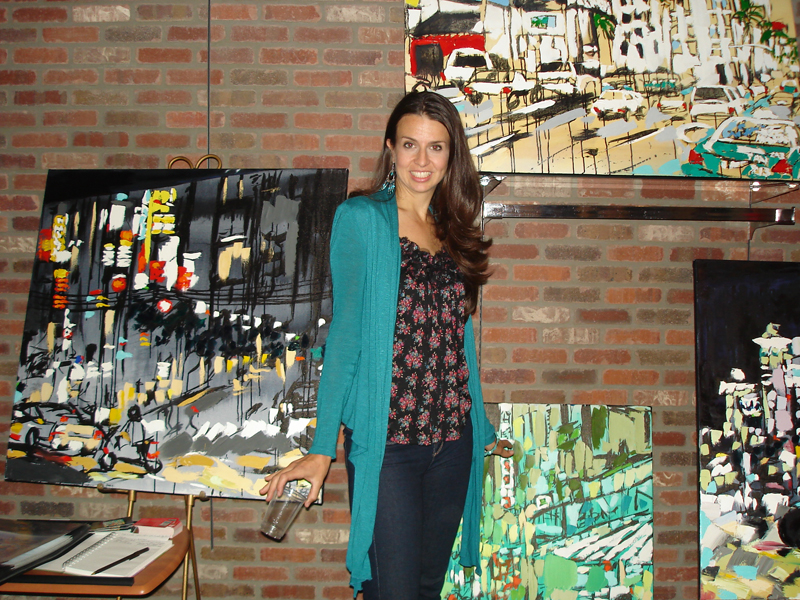 Brooke Harker in the The Laguna Art Walk