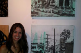 """artist Brooke Harker at """"Canvas Streets"""" at DDR Gallery"""