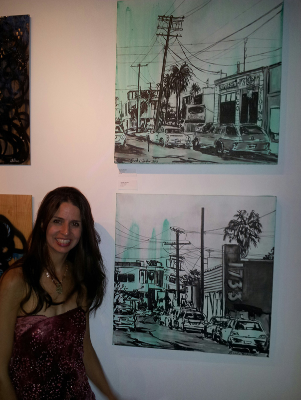 "artist Brooke Harker at ""Canvas Streets"" at DDR Gallery"