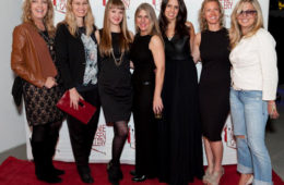 """""""Women ROCK"""" artists on the red carpet at Jeanie Madsen Gallery in Santa Monica, CA"""