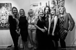 """artists of """"Women ROCK"""" at the Jeanie Madsen Gallery in Santa Monica, CA, 2013"""