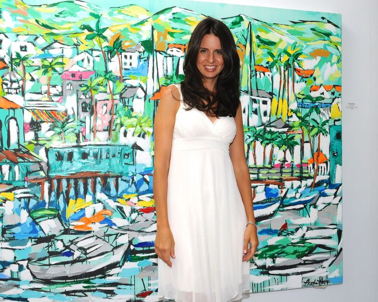 artist Brooke Harker at Malibleu Gallery