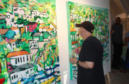 """guest at Malibleu gallery viewing """"Avalon Days 1 & 2"""""""