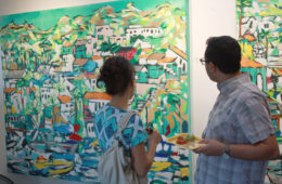 """guests of the """"Wavelength"""" exhibit at Malibleu Gallery"""