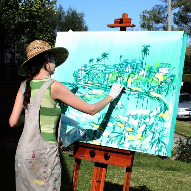 "artist Brooke Harker painting ""Emerald Surf"""