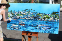 """artist Brooke Harker painting """"Liberated Waters"""""""