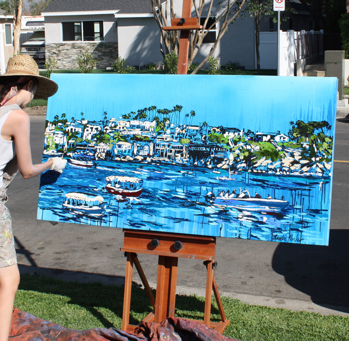 "artist Brooke Harker painting ""Liberated Waters"""