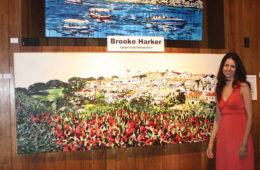 """Brooke Harker at the opening of """"Energies of the California Coast"""""""