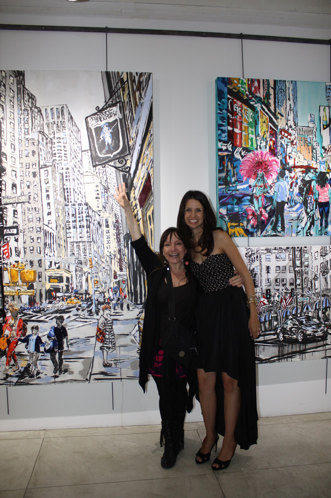 Kathy Leonardo with artist Brooke Harker at FAB Art Gallery