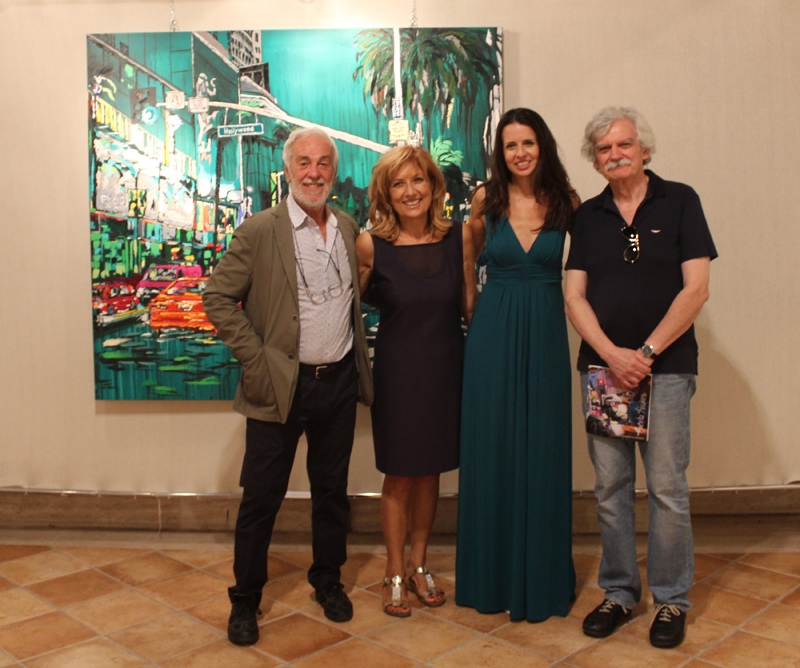 at the opening of Una Prospettiva Eclettica in Frosinone, Italy