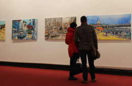 paintings by Brooke Harker at Satura Art Gallery in Genoa, Italy
