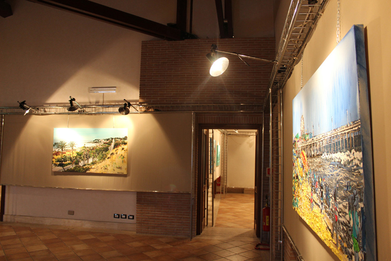 solo exhibit at Villa Comunale di Frosinone in Italy
