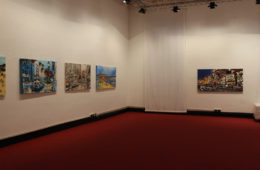 Harker's exhibit curated by Alfio Borghese at Satura Art Gallery