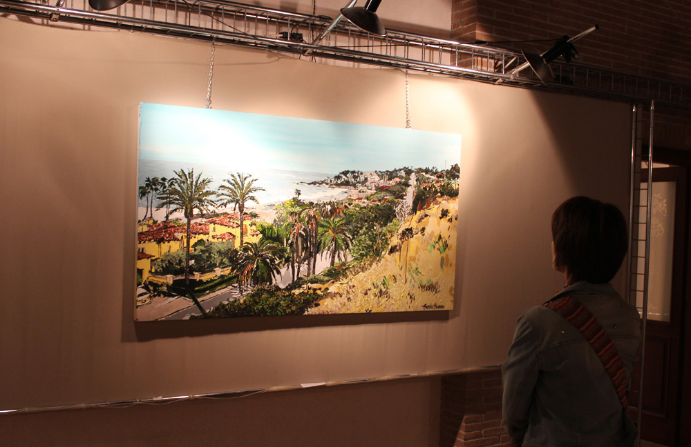 original painting Breath of Malibu at Villa Comunale