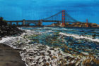 Golden Gate Shores | 42 x 72 | ink, oil & acrylic on canvas | by Brooke Harker | SOLD
