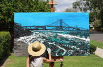 early stages of painting Golden Gate Shores