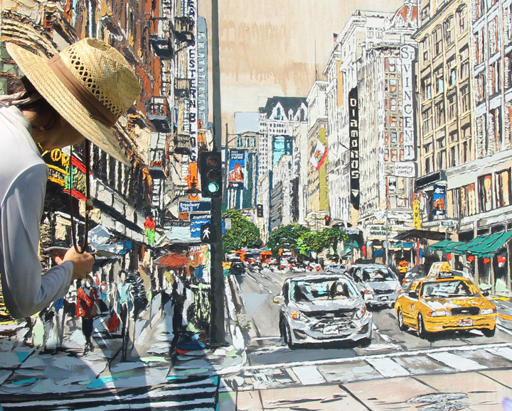 artist Brooke Harker paints downtown Los Angeles