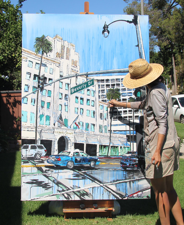 artist painting Beverly Ride