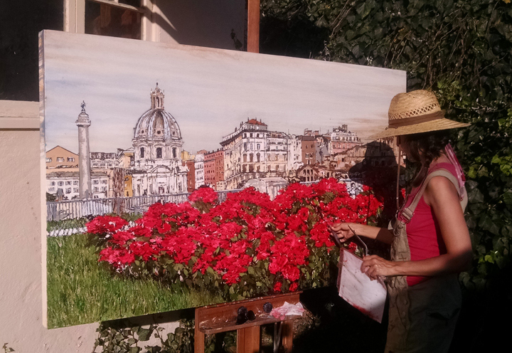 painting Fiori did Roma