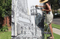 painting the structure of Kevin in the City