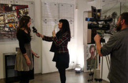 interview with Iolanda Russo of Extra TV, Rome
