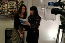 getting coached by Iolanda Russo of Extra TV