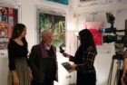 curator Alfio Borghese interviewed about Harker's art by Extra TV