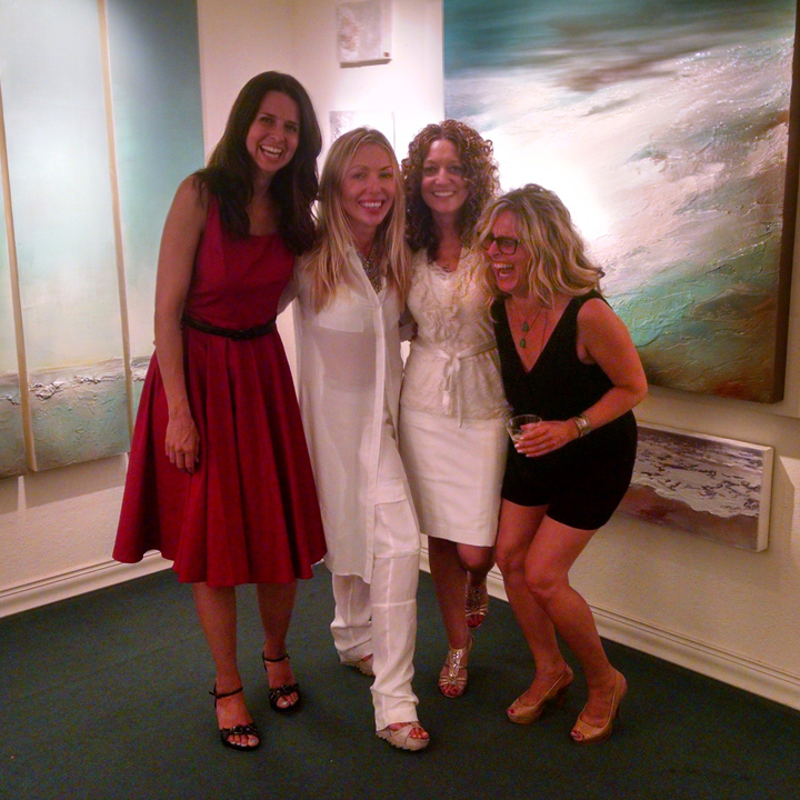 with artists Dasha Guilliam, Tesa Michaels & Jennifer Verge