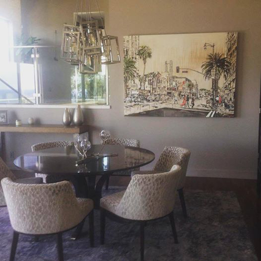 """Hollywood & Vine"" by Brooke Harker to accompany dining area"