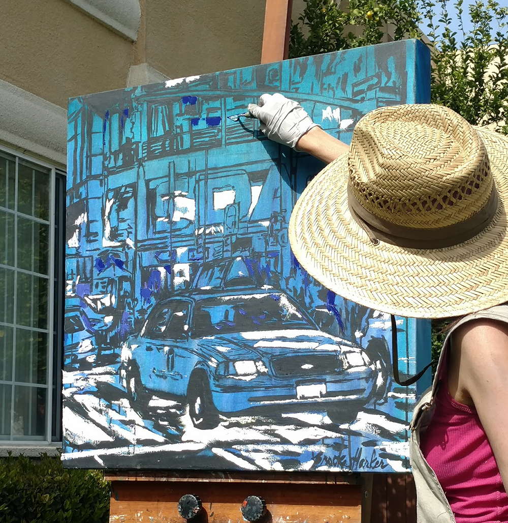artist Brooke Harker painting Jewel of the City