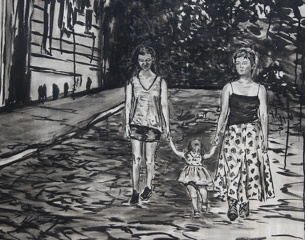 "close up of the sisters in Brooke Harker's ""Sisters in Paris"""