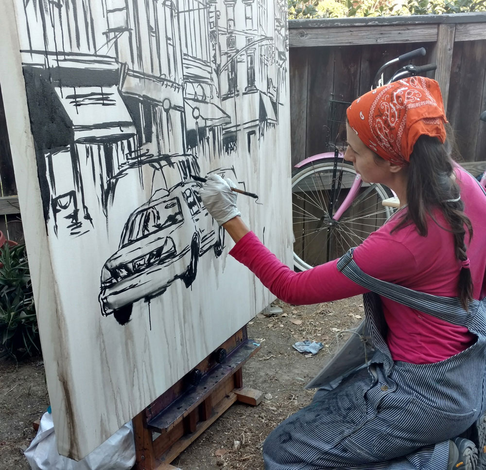 "artist Brooke Harker begins ""Urban River"""